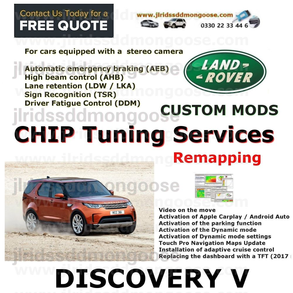 DISCOVERY SPORT (2015-2019)  Custom Coding Services