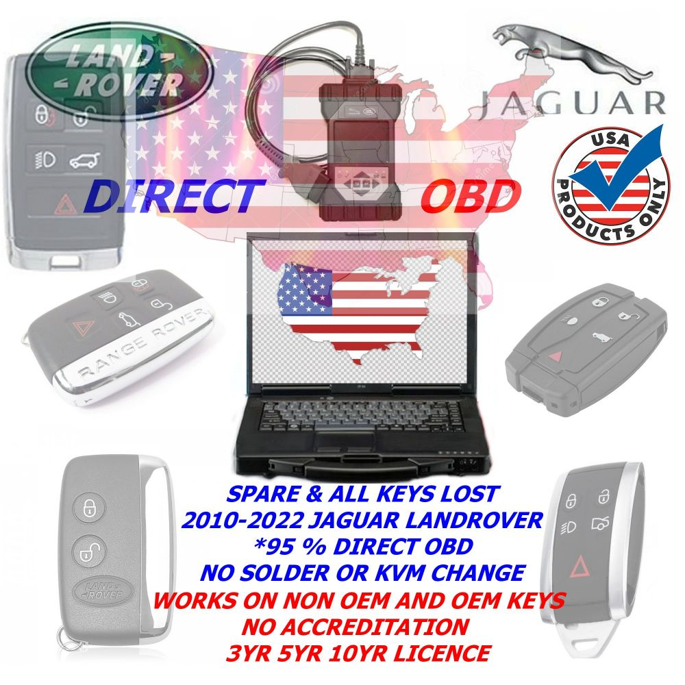 USA JLR Direct OBD DoiP Car Key Programming Package for Jaguar Land Rover from 2005 To 2022+