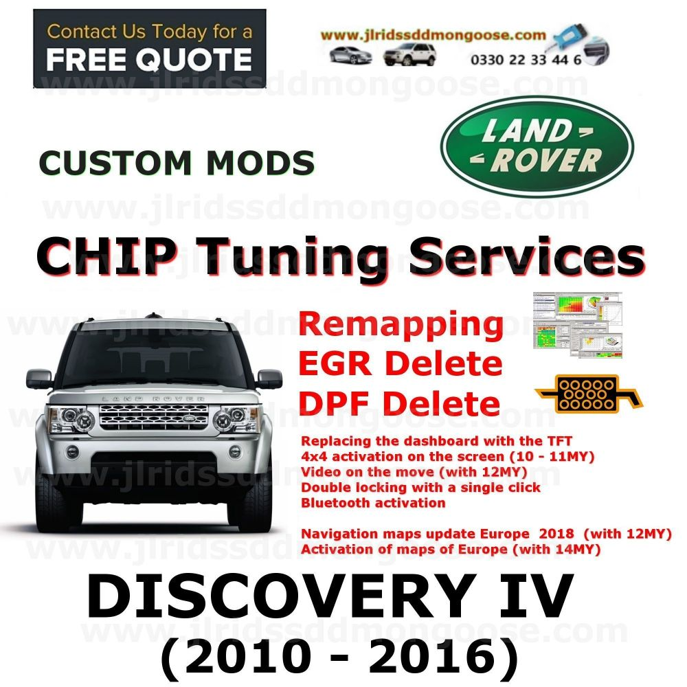 DISCOVERY IV 2010-2016 Factory Tuning Firmware Update EGR DPF Video on Move Bluetooth Maps Updates