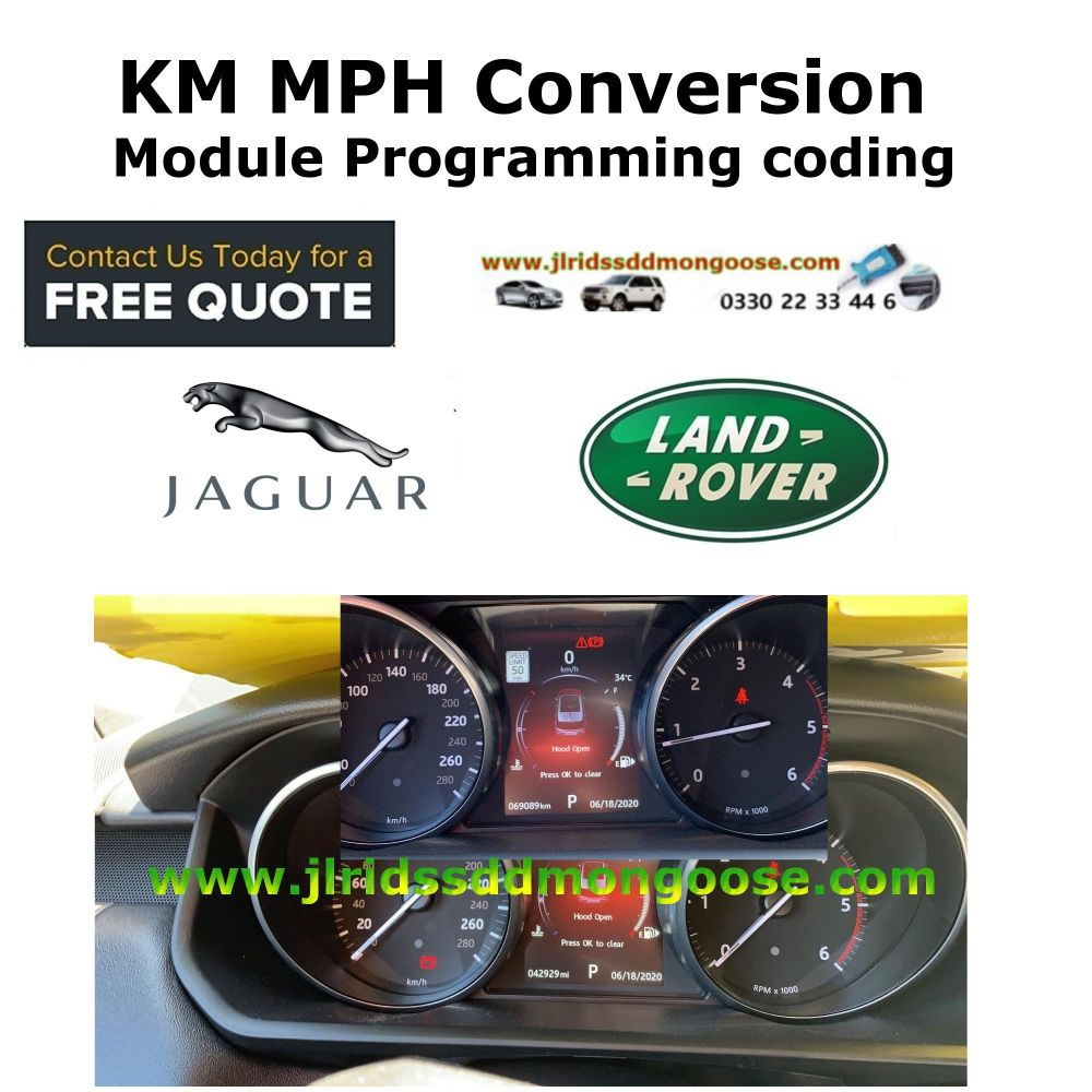 SDD Pathfinder KM to MPH Conversion Module Programming coding  & Training Services