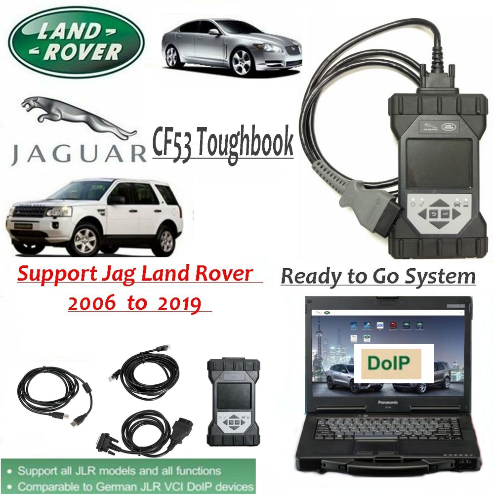 Original JLR DoiP VCI SDD Pathfinder Interface Plus Panasonic CF53 Laptop For Jaguar Land Rover From 2005 To 2019+