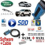 Jaguar XJ XK XF F Type Mongoose Pro Diagnostics kit IDS SDD JLR v138 + V131 Cable + USB 16GB