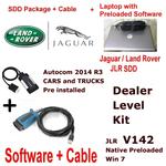 Jaguar Land Rover Diagnostics kit IDS SDD Win 7 JLR 142 Native + VCM Cable Autocom 2014 + Laptop Deal