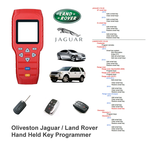 Oliveston Jaguar / Land Rover  Hand Held Key Programmer No Tokens