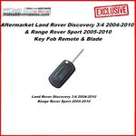 Aftermarket Land Rover Discovery 3/4 2004-2010 & Range Rover Sport 2005-2010 Key Fob Remote & Blade, image