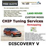 DISCOVERY V 2017+ Factory Tuning Firmware Update EGR DPF Video on Move ADAS (AEB)  (AHB) LDW / LKA)  (DDM)  Sign Recognition (TSR)  Options, image