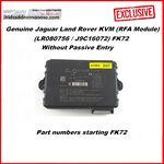 Genuine Jaguar Land Rover KVM (RFA Module) - Without Passive Entry (LR080756 / J9C16072) FK72 (Before DOIP), image
