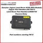Genuine Jaguar Land Rover KVM (RFA Module) - Passive Entry (LR080744 / J9C16073) FK72 (Before DOIP), image