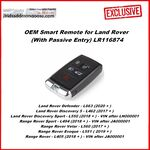 OEM Smart key for Land Rover 2018+ Buttons:4+1 / Frequency:315MHz / Transponder: HITAG PRO / Part No: PEPS(SUV) JK52-15K601-CG / Blade signature:HU101 / Keyless Go, image