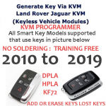 Generate Key Via KVM Land Rover Jaguar KVM Programmer (Keyless Vehicle Modules), image