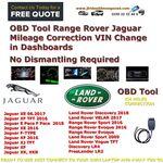 OBD Tool Range Rover Jaguar Mileage Correction Change in Dashboards No Dismantling Required, image