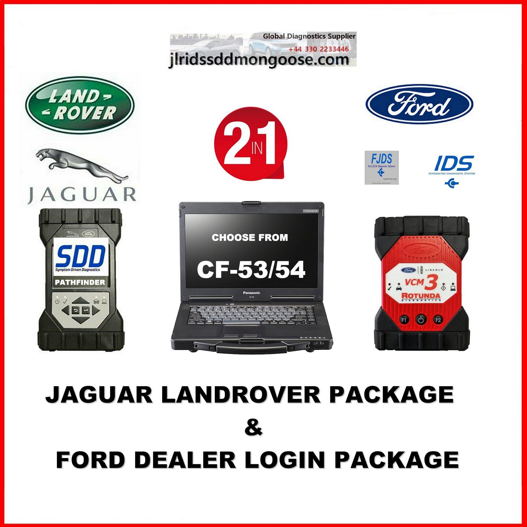 Jaguar Land Rover Package & Ford Dealer Login Package 2 in 1 Package