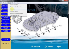 Activation Global Tech Stream (GTS) software Toyota Lexus Latest Version, image