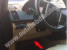 OBD connector location for Land Rover Freelander (2006 - 2014)