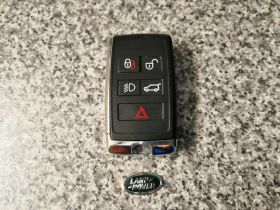 ORIGINAL Smart key for Land/Range Rover Buttons:4+1 / Frequency:434MHz / Transponder: HITAG PRO / Blade signature:HU101 / Immobiliser System:KVM / Part No: PS(SUV)JK52-15K601-BG, image , 3 image