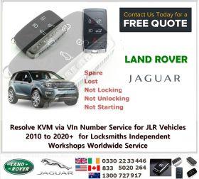 Resolve KVM via VIn Number Service for JLR Vehicles 2010 to 2020+  for Locksmiths Independent Workshops Worldwide Service, image