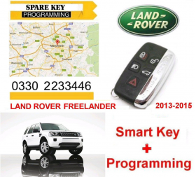 2013-2015 Land Rover Freelander 2 Replacement Smart Key & Programming