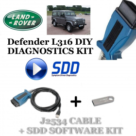 Defender L316 2006 - 2016 Land Rover Symptom Driven Diagnostics SDD JLR Diy Kit, image , 2 image