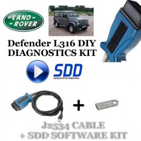 Defender L316 2006 - 2016 Land Rover Symptom Driven Diagnostics SDD JLR Diy Kit, image , 2 image