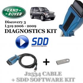 Discovery 3 L319 2006 - 2009 Land Rover Symptom Driven Diagnostics SDD JLR Diy Kit, image , 2 image