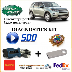 Discovery Sport 2014 - 2017 Land Rover Symptom Driven Diagnostics SDD JLR Diy Kit, image