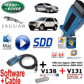 Jaguar XJ XK XF F Type Mongoose Pro Diagnostics kit IDS SDD JLR v138 + V131 Cable + USB 16GB