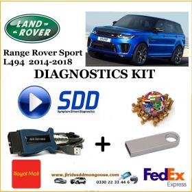 Sport L494 2014 - 2018 Land Rover Symptom Driven Diagnostics SDD JLR Diy Kit, image