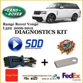 Vogue L322 2006 - 2012 Land Rover Symptom Driven Diagnostics SDD JLR Diy Kit, image