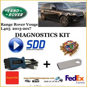 Vogue L405 2013 - 2017 Land Rover Symptom Driven Diagnostics SDD JLR Diy Kit, image
