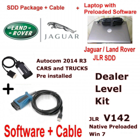 Jaguar Land Rover Diagnostics kit IDS SDD Win 7 JLR 142 Native + VCM Cable Autocom 2014 + Laptop Deal