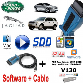 Land Rover Range Rover Vogue Evoque Diagnostics kit IDS SDD JLR Mongoose V130 Vmware