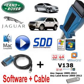 Land Rover Range Rover Vogue Evoque Diagnostics kit IDS SDD JLR Mongoose V138 Vmware