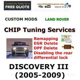 DISCOVERY III 2005-2009 Factory Tuning Firmware Update EGR DPF Shutdown Disabling the rear differential lock Programming service through remote access, image