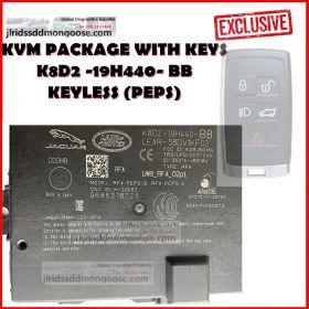 Genuine Jaguar Land Rover KVM PEPS KEYLESS - New Type - Passive Entry (LR117932 / T2H38589) K8D2 -19H440- BB, image