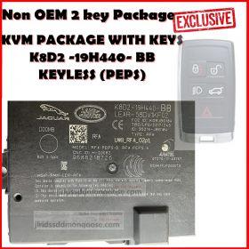 Genuine Jaguar Land Rover KVM PEPS KEYLESS - New Type - Passive Entry (LR117932 / T2H38589) K8D2 -19H440- BB, image , 3 image