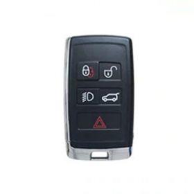 ORIGINAL Smart key for Land/Range Rover Buttons:4+1 / Frequency:434MHz / Transponder: HITAG PRO / Blade signature:HU101 / Immobiliser System:KVM / Part No: PEPS(SUV)JK52-15K601-DG / Keyless Go, image