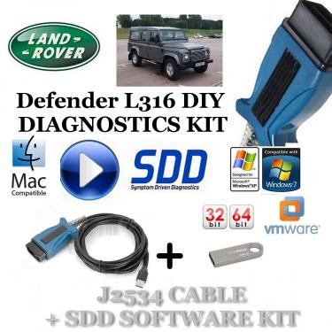 Defender L316 2006 - 2016 Land Rover Symptom Driven Diagnostics SDD JLR Diy Kit