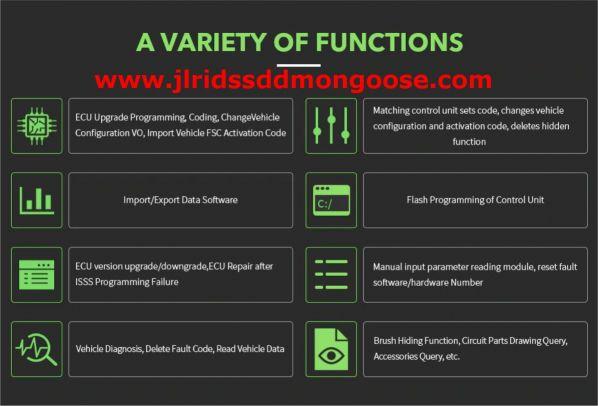 Jlr coding Functions