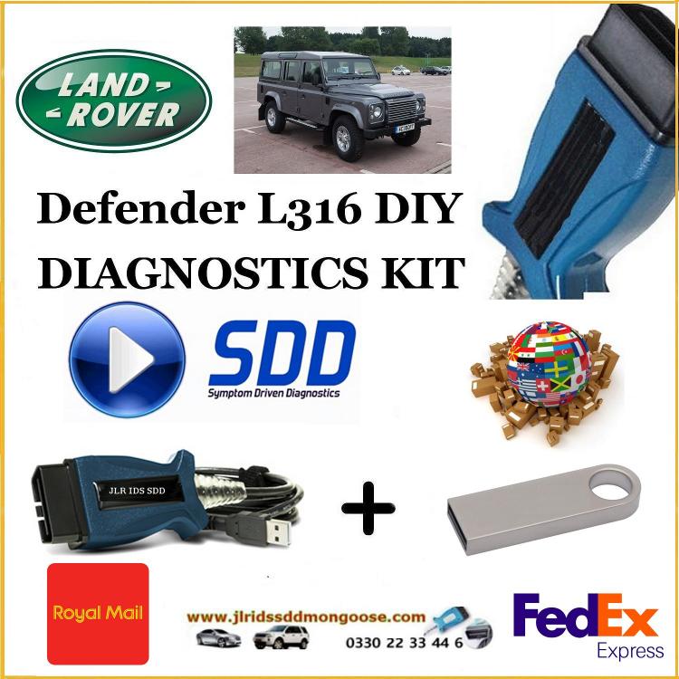 Defender L316 Land Rover Range Rover Diagnostics IDS SDD JLR Mongoose