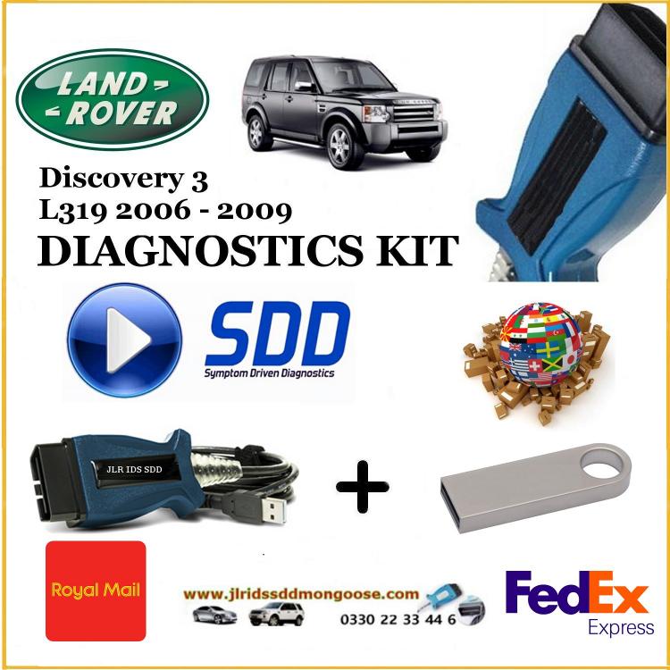 Discovery 3 2006-2009 L319 Land Rover Range Rover Diagnostics IDS SDD JLR Mongoose diy kit