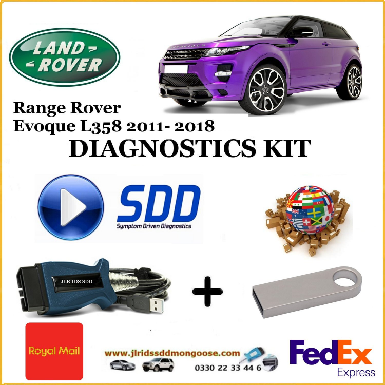 Evoque 2011-2018 L358 Land Rover Range Rover Diagnostics SDD JLR Mongoose diy kit