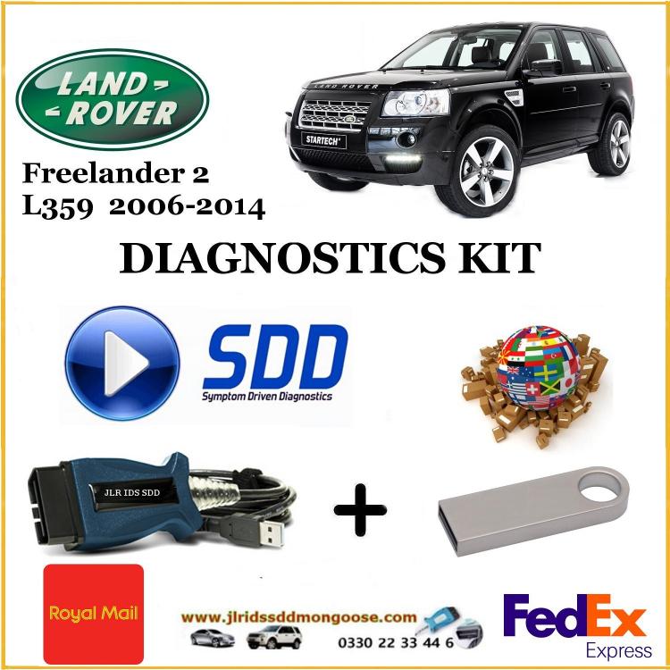 Freelander 2 / LR2 L359 2006 - 2014 Land Rover Symptom Driven Diagnostics SDD JLR Diy Kit