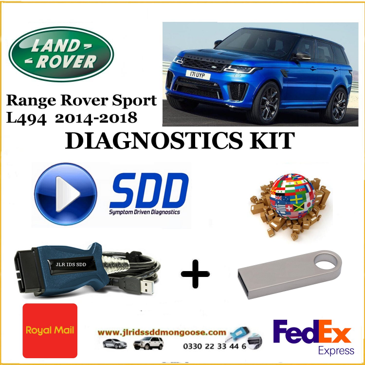 Sport L494 2014-2018 Land Rover Range Rover Diagnostics SDD JLR Mongoose diy kit