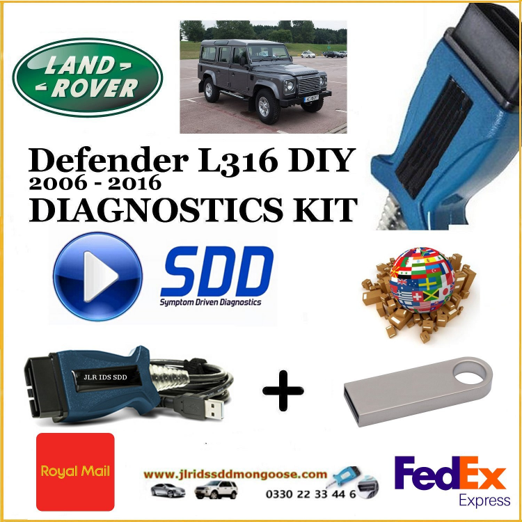 Defender L316 2006 - 2016 Land Rover Symptom Driven Diagnostics SDD JLR Diy Kit