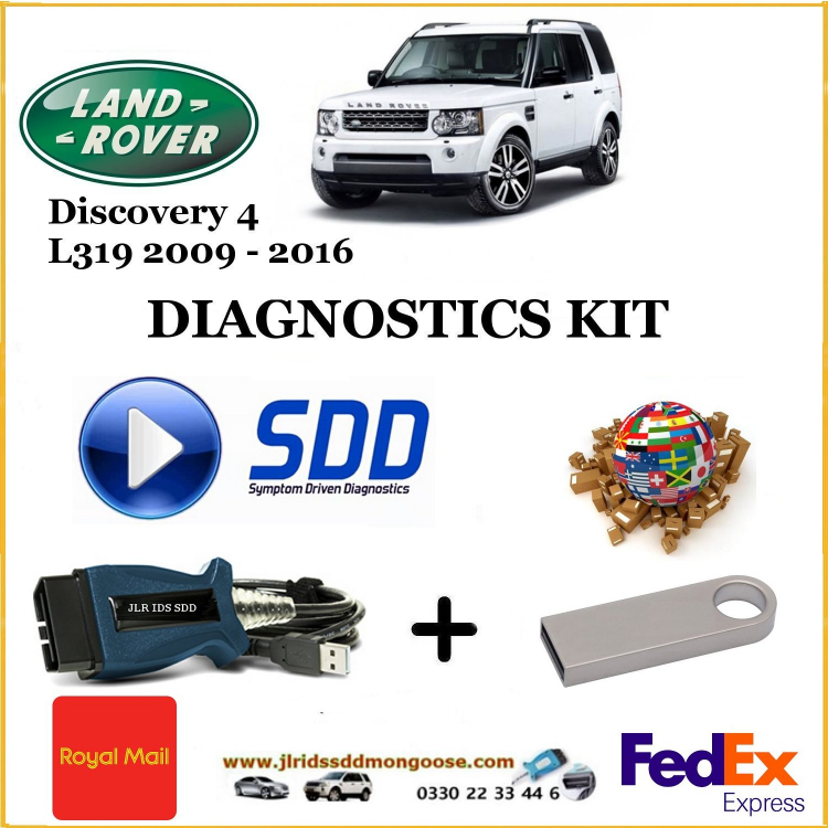 Discovery 4 L319 2009 - 2016 Land Rover Symptom Driven Diagnostics SDD JLR Diy Kit